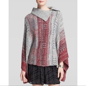 FREE PEOPLE | willow oversized poncho sweater top